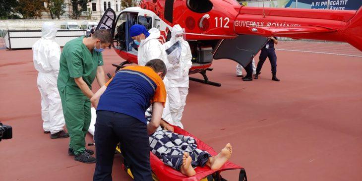 Intervenția aero-medicală SMURD Cahul- Chișinău FOTO/VIDEO