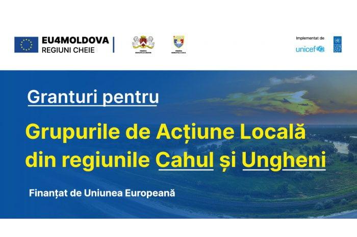 Grupuri de acțiune locală din Cahul şi Ungheni vor beneficia de granturi din partea UE