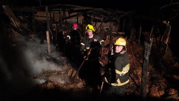 Incendiu într-o gospodărie din raionul Cahul. Un şopron cu baloţi a luat foc /VIDEO