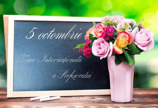 Pedagogii sărbătoresc pe 5 octombrie Ziua profesională
