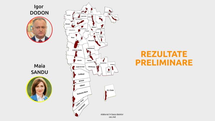 Rezultate preliminare turul II, raionul Cahul // INFOGRAFIC