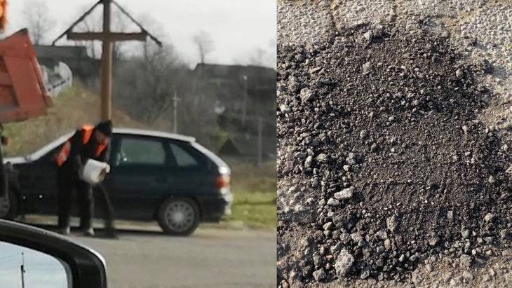 VIDEO// Plombarea drumului cu picioarele