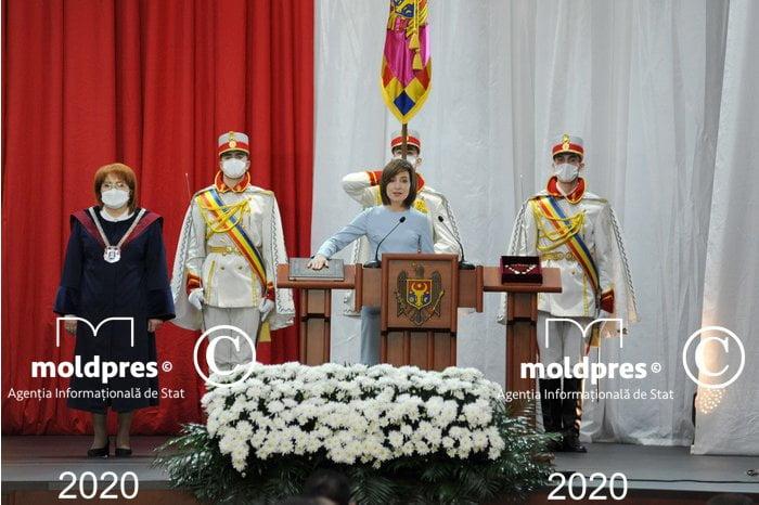 Maia Sandu a depus jurământul de Învestire în funcția de președinte al R. Moldova