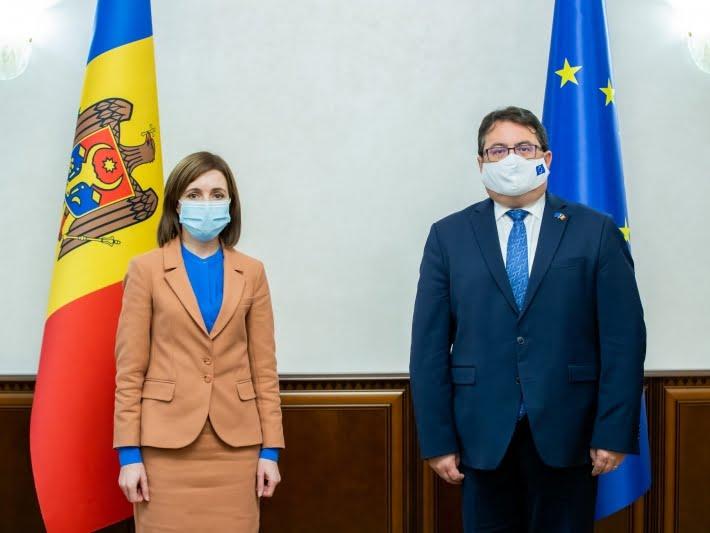 Președintele Republicii Moldova, Maia Sandu, a avut o întrevedere cu ES Peter Michalko, Ambasadorul UE în Republica Moldova