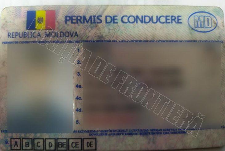 Două permise de conducere neveridice, identificate în PTF Cahul și Giurgiulești-Galați
