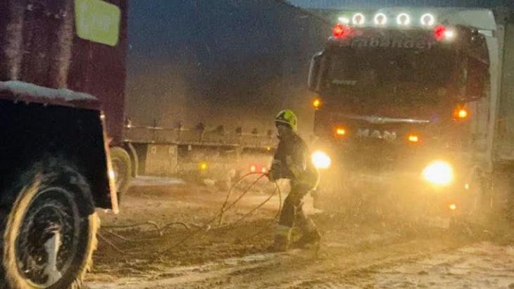 Accesul spre PTF Giurgiulești-Reni a fost deblocat. FOTO de la fața locului