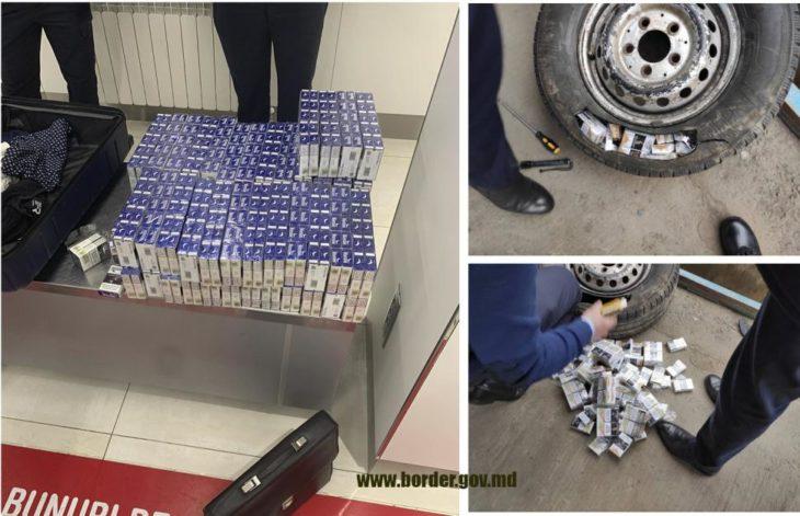Circa 15 mii de țigarete, urmau să ajungă ilegal în Europa. Șoferul din raionul Cahul a ascuns 199 pachete în roata de rezervă