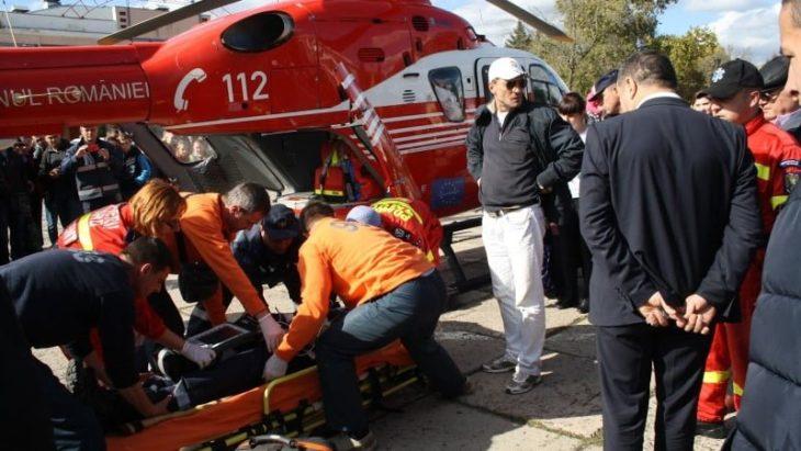 Un elicopter SMURD a aterizat pe Piața Independenței din orașul Cahul