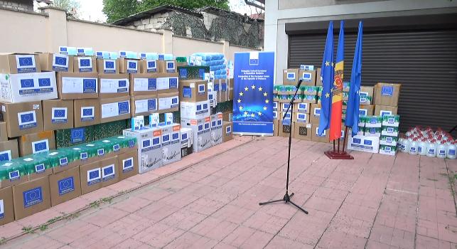 Uniunea Europeană a donat un lot de echipamente de protecție pentru mun. Cahul