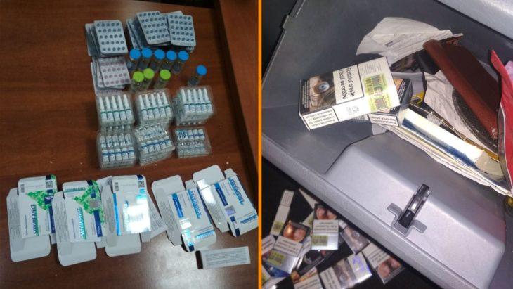 Mii de țigări și sute de pastile anabolizante depistate de vameșii de la Cahul.