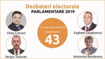 Dezbateri electorale dintre candidații CEU nr. 43 Cahul. Emisiunea I
