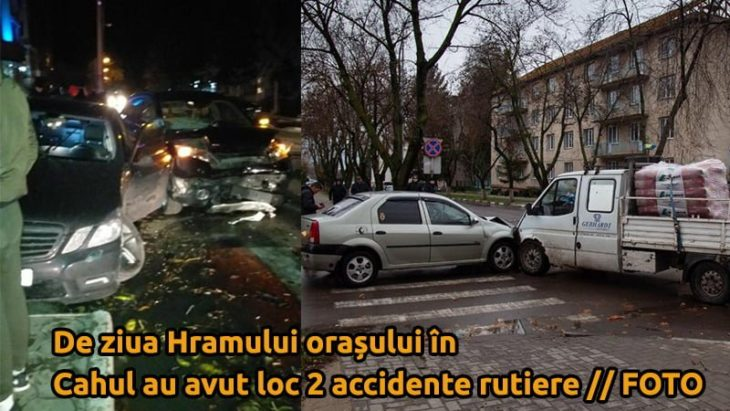 De ziua Hramului orașului în Cahul au avut loc 2 accidente rutiere