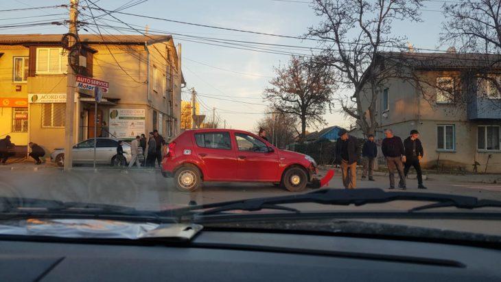 Accident la intersecția străzilor M. Frunze și B.P.Hasdeu