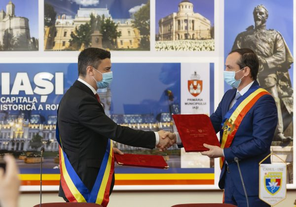 Municipiile Iași și Cahul s-au înfrățit de Ziua Unirii Basarabiei cu România. Primarul Chirica: Văd în viitorul nu foarte îndepărtat oportunitatea reunificării