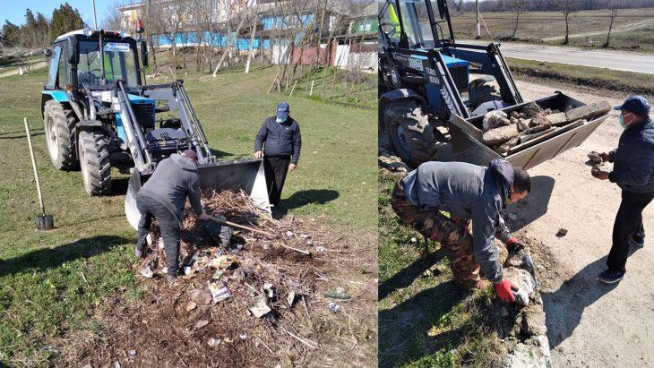 """Curățenie de primăvară la Măcărești. La inițiativa localnicilor, comuna a fost """"lustruită"""""""
