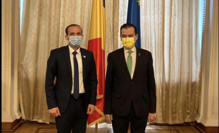 Primarul municipiului Cahul, Nicolae Dandiş, s-a întâlnit la București cu președintele Camerei Deputaților din România, Ludovic Orban