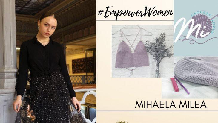 """Povestea meșteriței handmade, Mihaela Milea: """"Nu am un atelier, dar locul unde am ață și croșetă devine atelierul meu"""""""