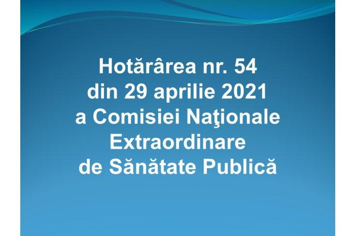 O nouă hotărâre a a Comisiei Naționale Extraordinare de Sănătate Publică
