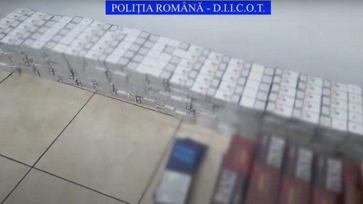 Poliția română anihilează o grupare moldo-română de contrabandiști de țigări // VIDEO