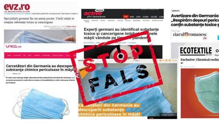 FALS: Măștile de protecție sunt toxice