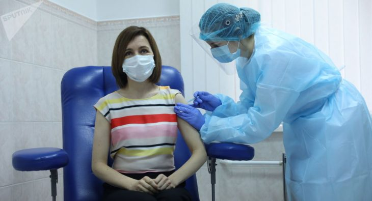 """Maia Sandu, după ce s-a vaccinat împotriva COVID-19: """"Îi încurajez pe toți cetățenii să se imunizeze"""""""