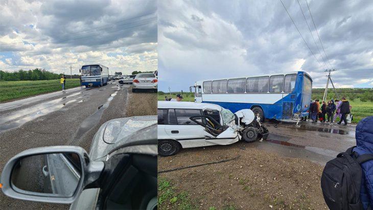 Accident rutier cu implicarea unui autobus de rută la Cahul // FOTO