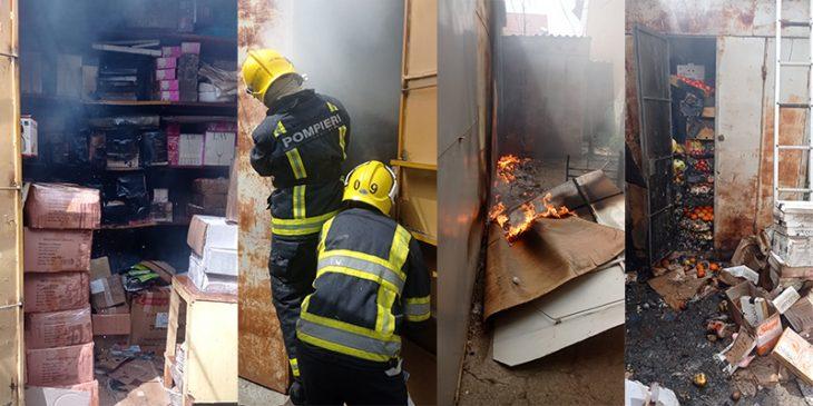 Mai multe gherete din Piața Centrală de la Comrat au fost cuprinse de flăcări /VIDEO