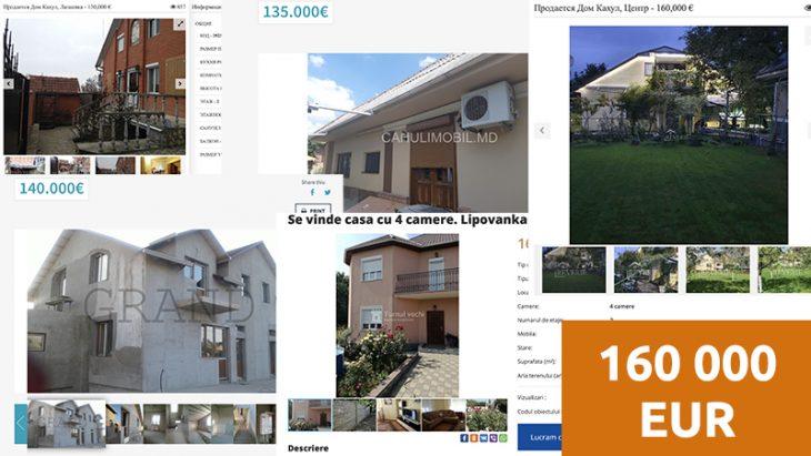 Vezi care sunt cele mai scumpe case de locuit vândute în Cahul. Unele ajung și până la 160 mii euro