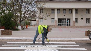 """UE // """"Traversează spre egalitate"""" este mesajul apărut pe trecerile de pietoni din câteva localități din raionul Cahul"""