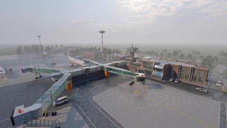 Cum ar putea arăta aeroportul din Cahul. Un tânăr a proiectat reconstrucția acestuia /VIDEO