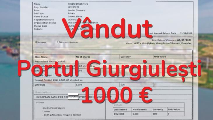 BERD a cumpărat portul Giurgiulești cu 1000 de euro
