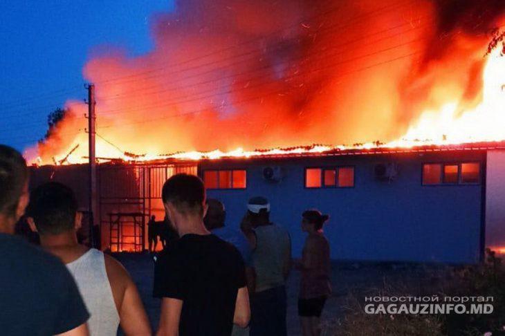 Incendiu de amploare în sudul țării. S-au aprins două magazine, unul din el încă nici nu a fost inaugurat /VIDEO