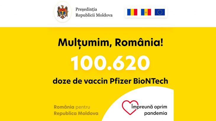 Maia Sandu a mulțumit autorităților de la București pentru donația de vaccin