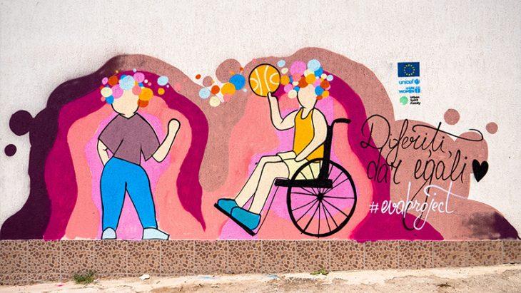 Picturi murale dedicate egalității de gen au fost realizate în nouă localități din raionul Cahul