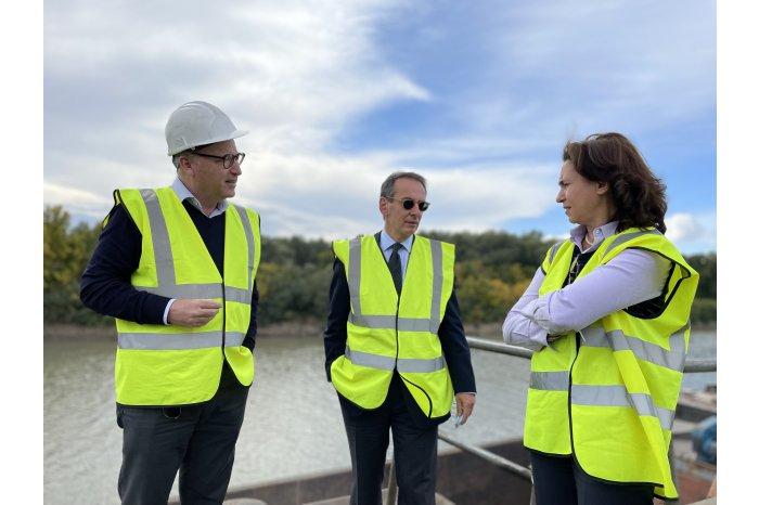 Directorul executiv al BERD a vizitat Portul Giurgiulești